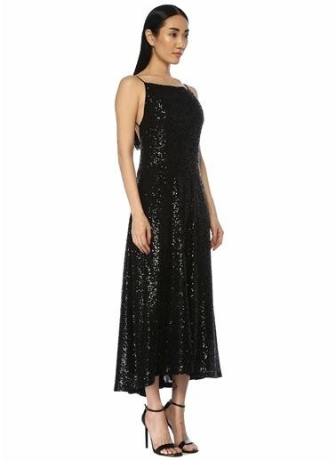 Beymen Collection Beymen Collection  İşlemeli Sırt Dekolteli Midi Kokteyl Elbise 101454210 Siyah
